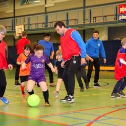 Trainen met spelers van PEC Zwolle