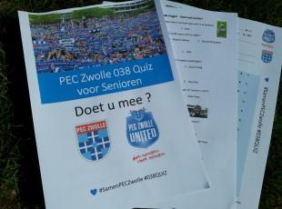 PEC Zwolle 038QUIZ voor senioren; aanvragen kan!